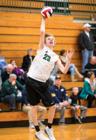 Men's Volleyball saddles up for the road to victory